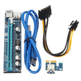 PCI-E Express USB3.0 1x to16x Extender Riser Card Adapter SATA Power Cable