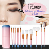 12pcs Make-up Pinsel Set Foundation Puder Lidschatten Kosmetik Pinsel Werkzeuge