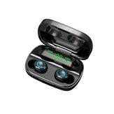 Mini tragbare TWS Bluetooth 5.0 Kopfhörer drahtlose Ohrhörer 9D Stereo Smart Touch Kopfhörer mit Mikrofon