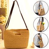 Strohsack Handgemachte Schulterkorb Tasche Stroh Sommer Stroh Strand Einkaufstasche