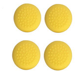 4Pcs Yellow Games Grip Rocker Caps Joystick Silicone Cover Cases Cap for Nintendo Switch Lite Game Console