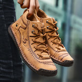 पुरुषों के हाथ सिलाई माइक्रोफ़ाइबर चमड़े के कॉम्बी Soft जूते