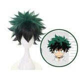 Cosplay perruque Anime My Hero Academia Deku Izuku Midoriya Green
