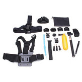 23 In 1 Selfie Stick Mount Wrist Chest Strap Kit For Gopro Hero 3 4 3 Plus SJCAM EKEN SJ4000 Sports Camera
