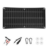 10W 37x18cm Monocrystalline Silicon Semi-flexible Solar Panel with USB 12V/5V DC For Car Boat Charger