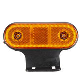 12V/24V 20 LED Side Marker Lights Reflector Lamp Amber With Bracket For Truck Trailer