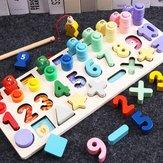 Contagem Board Nursery Learning Shape Emparelhamento Montessori Math Toys Presente de madeira do bebê