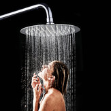 360° 6 Inch Round Stainless Steel Ultra Thin Rainfall Shower Head Bathroom Sprayer