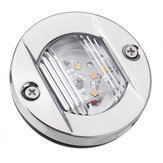 12V LED 2835 Round Stern Transom Lights For Boat Marine Embedded Mounting Stainless Steel