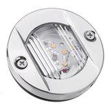 12V LED 2835 Okrągłe rufowe światła pawęży do montażu na łodzi w obudowie ze stali nierdzewnej
