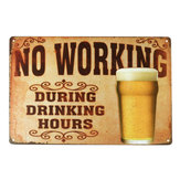 NO WORKING Vintage Metal Tin Sign Poster Plaque Bar Pub Club Wall Home Decorations