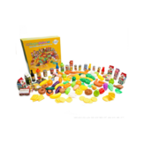 120PCS Simulation Food Children Play House Toys Early Education Props Fruit Food Tableware Set