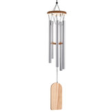 Houten metalen pijp Windgong Resonant Gong Basgeluid Kapel Kerkklok Windchime Windgong Decoraties