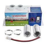 12V 24V 600W Aire de calefacción eléctrica Coche Calentador Calefacción de desempañador de alta potencia de 2 agujeros