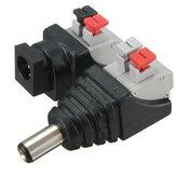 10 STÜCKE LUSTREON Stecker & Buchsen DC 5,5 * 2,1mm Netzteil Stecker Kabel für LED Streifen 12 V