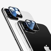 Cafele 2PCS HD klares ausgeglichenes Glas + Metall zwei in One nahtloser voller Deckungs-Telefon-Objektiv-Schutz für iPhone 11 / Pro / Pro max