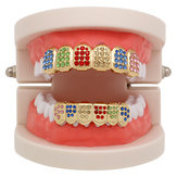 Strass colorati Grillz Diamond Gold Tooth Jewelry