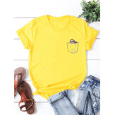 Summer Cotton Short Sleeve Women T-shirts
