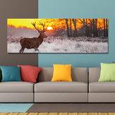 DYC 10677 Tek Sprey Yağ Resimlerinde Orman Sunrise Vahşi Geyik Manzara Ev Dekorasyon Resimleri Için Duvar Sanatı