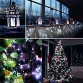 12M 100LED 8 Modos String Light USB Holiday Christmas Lâmpada Decorativa para Casa Interior Festa de Casamento Guirlanda