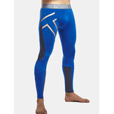 SUPERBODY Mens Sport Fitness Reflective Printing Tight Pants