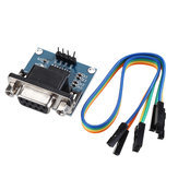5pcs DC5V MAX3232 MAX232 RS232 To TTL Serial Communication Converter Module With Jumper Cable Geekcreit for Arduino - products that work with official Arduino boards