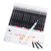 21 Watercolor Brush Pen Set Premium Soft Flexible Tip Water Painting Coloring Marker Pens for Children Adults Coloring Books Manga Comic Sketching Calligraphy