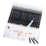 21 Zestaw pędzli do akwareli Premium Soft Elastyczna końcówka Malarstwo wodne Kolorowanki Markery Długopisy dla dzieci Dorośli Kolorowanki Manga Komiks Szkicowanie Kaligrafia