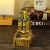Seraphic Egyptian Pharaoh King Räuchergefäßhalter mit goldenem Rückfluss