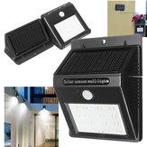 Waterproof LED Human Body Infrared Solar Sensor Wall Light Outdoor Garden Wall Lamp