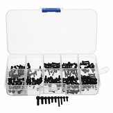 Suleve™ MXCH2 240Pcs M2/M2.5/M3 Hex Socket Head Cap Screws Carbon Steel Assortment Kit