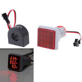 5 قطع geekcreit® 3 في 1 ac 60-500 فولت 100a الفولتميتر ammeter هرتز تردد متر 22 ملليمتر رقمي الجهد الحالي أمبير إشارة ضوء الأحمر LED مصباح مؤشر مع ct
