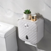 Bakeey Tecido de Toalete À Prova D 'Água Caixa Buraco Prateleira Livre Pendurado Na Parede Cestas De Armazenamento Criativo Para Casa Inteligente