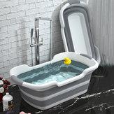 ポータブルシリコーンベビーシャワー浴槽折りたたみバスタブ安全猫犬ペットのおもちゃ浴槽