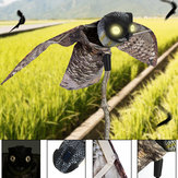 Realistic Plastic Bird Scarer Dynamic Moving Wings Realistic Owl Decoy Pest Repellent Bird Scarer Outdoor Decoration Garden Yard Decor