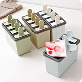 Popsicle Ice Cream Mould Homemade Simple Ice Mould 4-Grid Ice Tray