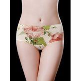 Floral Printed Elegant Seamless Low Waist Soft Briefs