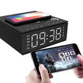 J21S多機能Bluetoothスピーカーフォンワイヤレス充電器FMラジオDIY目覚まし時計音楽レコード
