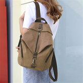 Women Vintage Large Capacity Backpack Shoulder Bag Casual