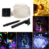 39FT 100 LED Solar String Corda Fairy Light Waterproof Xmas Wedding Party Decor Night Light
