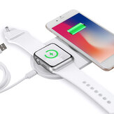 Caricabatterie wireless per telefono 2 in 1 da 10 W Caricatore per orologio Caricabatterie rapido per Smart Phone abilitato Qi per iPhone per Samsung Serie Xiaomi Apple Watch