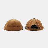 Personalità unisex Yara Brimless Cappelli tinta unita Cappello padrone di casa Cappello melone Cappello hip hop