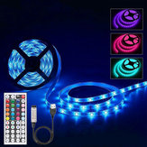 1M 2M 3M 4M 5M Niet-waterdichte DC5V USB 3528 SMD RGB LED Strip Light String Tape + 44 toetsen IR Afstandsbediening