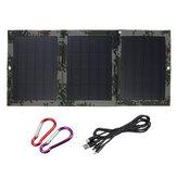40W 5V Kit caricabatterie pieghevole doppio pannello USB Batteria Sunpower USB solare per ricarica di emergenza