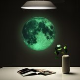 30cm Luminous Glow in the Dark Moon Naklejka ścienna Home Art Decor Kids Room Decal