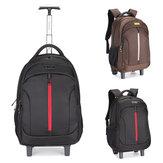 19Inch Waterproof Wheeled Trolley Backpack Laptop Suitcase Luggage Rucksack Traveling Stroage Bags