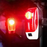 XANES® TL35 120LM Feu arrière vélo 5 témoins USB rechargeables LED Lampe d'avertissement nocturne
