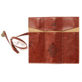 Vintage Retro Luxury Roll Kulit Make Up Kosmetik Pen Pencil Case Pouch Purse Bag untuk Sekolah