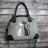 Women Crossbody Bag Cat Pattern Handbag Shoulder Bag