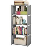 Einfache Bücherregal Lagerschrank Bücherregal 5 Tier Regal Display DVD CD Möbel Lagerregal für Studenten